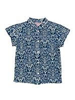 Spantajáparos Camisa Japonesa estampado (Azul)