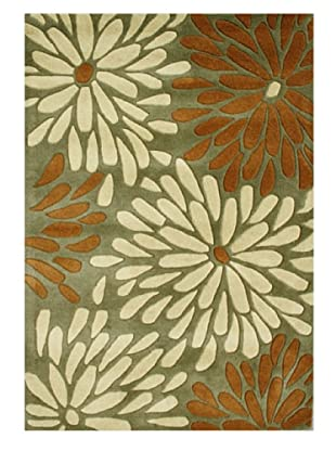 Horizon Rugs New Zealand Wool Rug (Green/Almond/White)