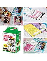 Fujifilm Instax Mini Twin Pack Instant Film 20 Sheets/20PCS Message Memo Instan FujiFilm Instax Mini 8 7s 25 50s Sticker Set