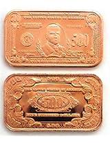 1 $500 William Mc Kinley Paper Money Copper Bar | 1 Avdp Ounce .999 Fine Copper Ingot Copper