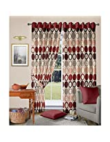 Jacquard Maroon Curtain from Vorhang