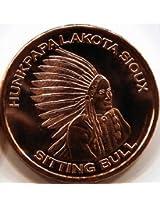 1 Oz Copper Round Sitting Bull Design