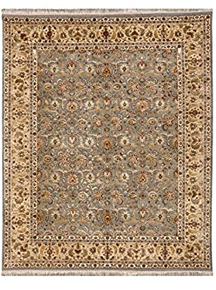 Jaipur Rugs Hand-Knotted Oriental Pattern Wool & Silk Rug, Blue/Yellow, 2' x 3'