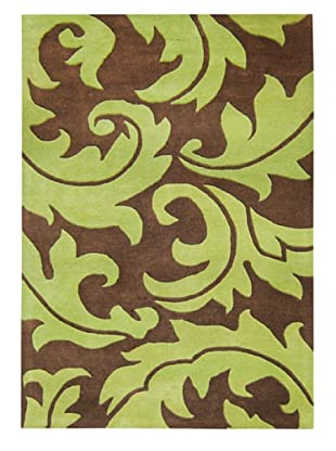 Alliyah Rugs Casablanca Floral Rug (Brown/Green)