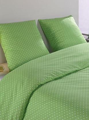 Mistral Home Bettwäsche-Set Polka in 3 Größen (grün)