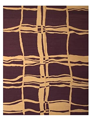 French Accents Modern Flatweave Killim Rug (Violet/Cream)