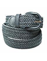 Luxury Divas Gray Braided Elastic Stretch Belt Belt Size XX-Large (46-48) AD