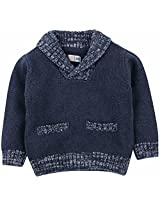 Infant Boys Sweater With Detail - Navy (12 - 18 Months)