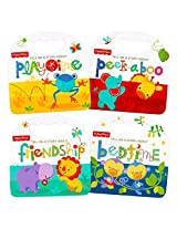 """Fisher Price """"My First Books"""" Set Of 4 Baby Toddler Board Books (Bedtime, Playtime, Friendship And Peek A Boo!)"""
