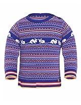 Yellow Apple Baby Boys 18-24 months Wool Sweater (Sea Blue)