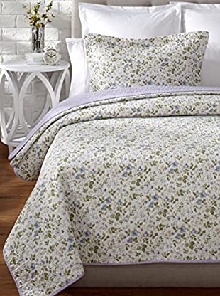 Laura Ashley Spring Bloom Quilt Set (Blue)