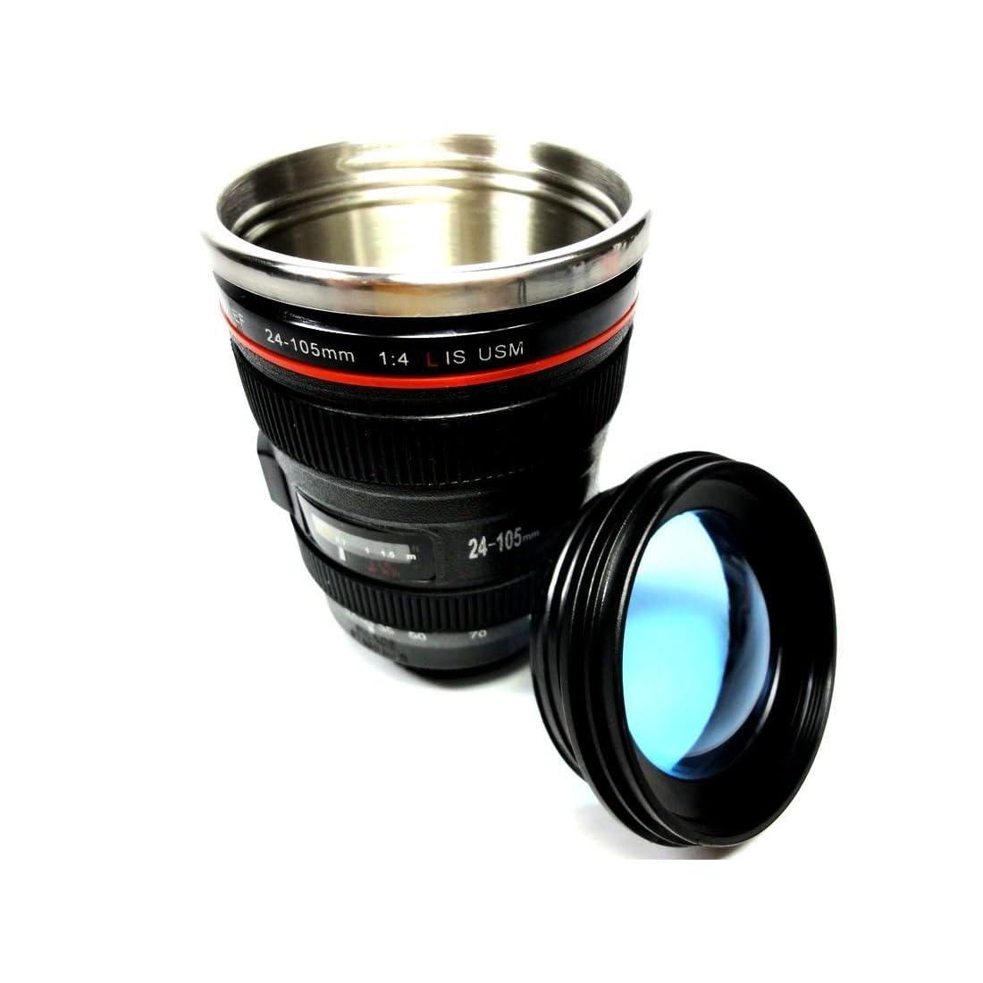 一眼レフカメラレンズ型マグカップ