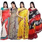 Ishin Combo of 4 Bhagalpuri Silk Sarees Combo 39