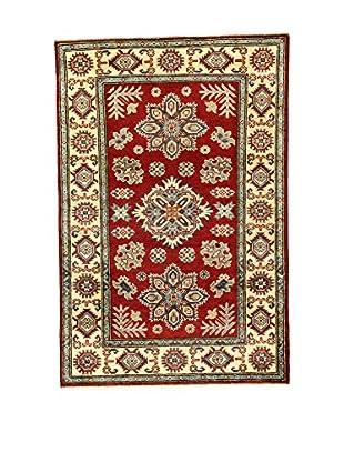 L'Eden del Tappeto Teppich Uzebekistan Super rot/beige 148t x t99 cm