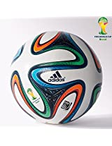Adidas ADIDG736175 Brazuca Fifa 2014 World Cup Official Match Soccer Ball, Size 5 (Multicolour)