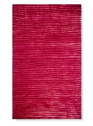 The Rug Market Wavy Rug, Red, 5' x 8'