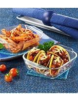 Borosil Mini Square Dish Set, 340ml, Set of 2