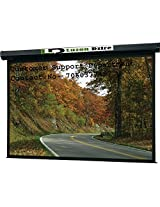 Luzon Dzire Imported Motorised Projector Screen, Size: - 10x6 Ft.(16:9)(IMPORTED A+++++ FABRIC, BLACK COATED FROM BACK SIDE)