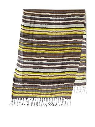 Michael Stars Women's Spiced Stripe Scarf (Aluminum)
