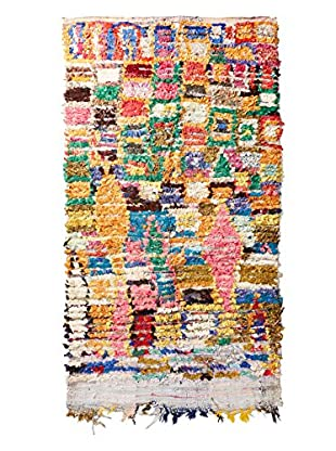 Mili Designs NYC Vintage Boucherouite Rug, Multi/Gold, 4' x 7'
