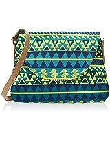 Kanvas Katha Women's Sling Bag (Aqua) (KKPUS002AQ)