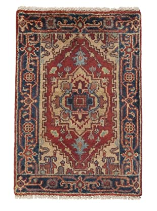 Rug Republic One Of A Kind Indo-Serapi Hand Knotted Rug, Antique Red/Multi, 2' 3