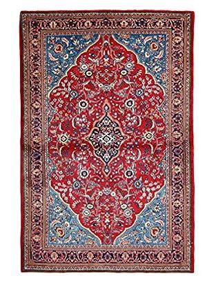Darya Rugs Authentic Persian Rug, Blue, 4' x 6'