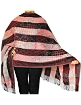 Boiled Wool Jamawar Shawl Scarves Womens Indian Clothing (76 x 26 inches)