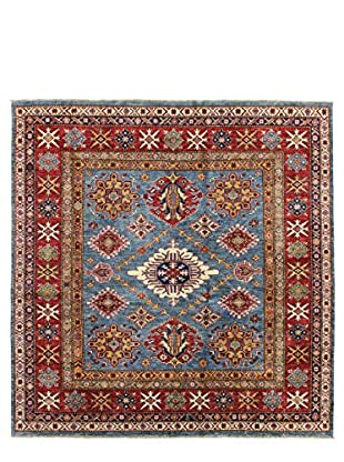 Bashian Rugs One-of-a-Kind Hand Knotted Kazak Rug, Light Blue, 6' 6