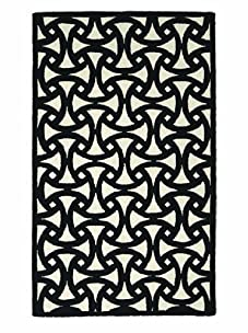 Trina Turk for Peking Handicraft Santorini Hook Rug (Black)