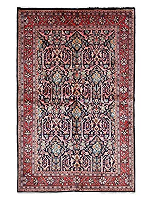 Darya Rugs Persian One-of-a-Kind Rug, Navy/Red, 4' 6