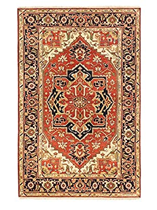 Hand-Knotted Serapi Heritage Wool Rug, Dark Copper, 5' 11