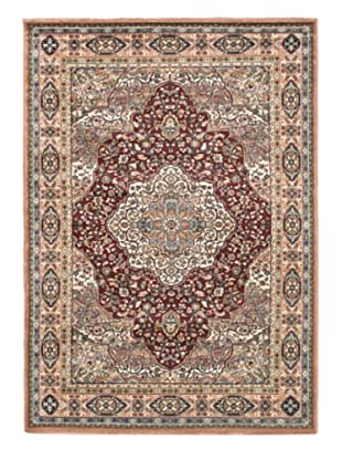 Medallion Style Rug, Copper/Dark Red, 5' 6