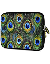 Amzer 7.9 - 10.5 Inches Designer Neoprene Sleeve Case for iPad/Tablet/e-Reader and Notebooks, Peacock Feather (AMZ5258105)
