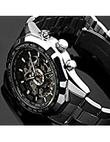 ESS Men's Skeleton Dial Mechanical Watch WM257 Stainless Steel