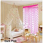Mebelkart summer heart curtain(set of 2)-Dark Pink