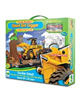 The Learning Journey Puzzle Doubles! Giant Dirt Digger Floor Puzzle