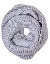 Simplicity Solid Infinity Scarf in a Ultra Plush Knit Pattern, Light Grey