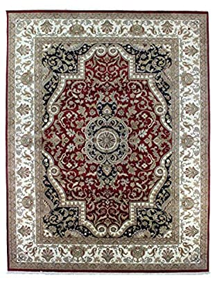 Bashian Rugs One-of-a-Kind Hand Knotted Agra Rug, Red, 9' 10