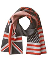 Psycho Bunny Men's Double Flag Graphic Scarf, Chilli, One Size