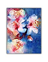 TIA Creation Vase and Flower Canvas 0100 Print on Cotton Canvas 22inch x 31inch