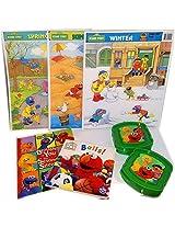 Sesame Street Childrens Books & Puzzles Gift Bundle Ages 2+[7 Piece]