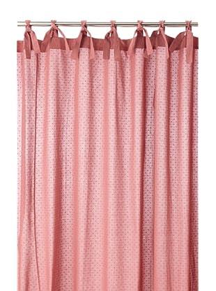 Coyuchi Swiss Dot Shower Curtain, Dusty Rose