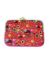 Chumbak  CLAP013-11 11-inch Fox in the Garden Laptop Sleeve (Multicolor)