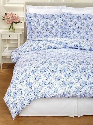 Dea Machilina Printed Fabric Duvet Set (Blue)