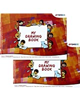 Prahaas Drawing Book With Butter Paper Set Of 2 Red, 11.69 X 8.26 Inches