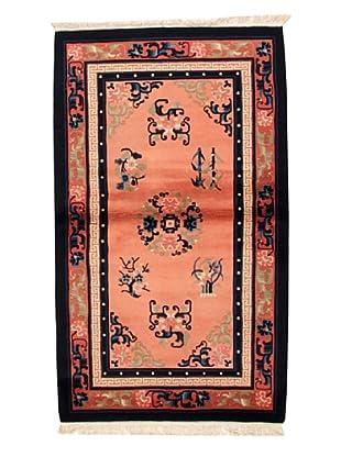 Roubini Chinese Antique Finish Rug, Light Pink/Navy, 3' x 5' 2