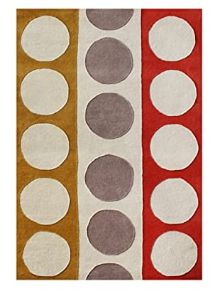Alliyah Rugs New Zealand Wool Rug (Beige/Red/Honey Gold)