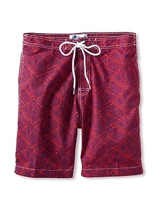 Trunks Men's Swami Board Shorts (Triangles Lotus)