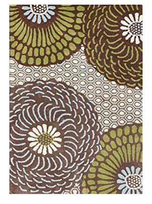 Horizon Rugs New Zealand Wool Rug (Brown/Aqua/Beige)